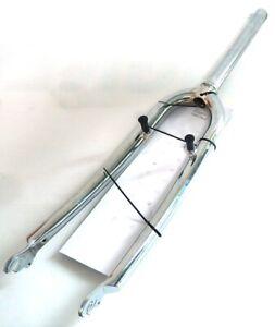 """Fork Mountain Bike 26 """" Steel - Length Swivel 9 27/32in Head Set 28.6 New"""