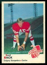 1970 OPC O PEE CHEE FOOTBALL CFL #88 BASIL BACK NM Calgary Stampeders Card