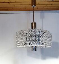 Designer Chrom Chandelier Lampe Kinkeldey Kristallglas 1960er