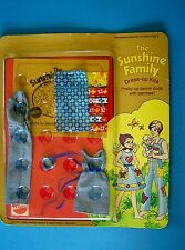 Rare 1975 SUNSHINE  FAMILY DRESS-UP KITS DENIM DUDS with PATCHES Family of 3 MIP