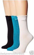 1 K. Bell Socks Womens Rose Slim Foot Textured Crew Ruffle Velvet Bow Blue White