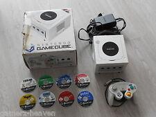 Nintendo GameCube Pearl White mit Controller und Kabel in OVP + 8 Spiele