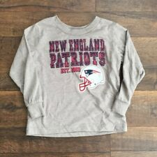 NFL TODDLER NEW ENGLAND PATRIOTS long sleeve t-shirt, grey, 3T