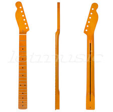 Lefty Left Handed Yellow 22 Fret Maple Guitar Neck For Electric TL Replacement