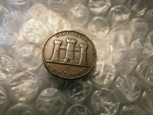 "Gibraltar 1842/0 ""OD"" British Territory 1 Quart Coin..                    #-81.1"