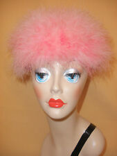 Delicious 1960's Pink Ostrich Feather Pillbox Hat
