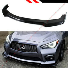 FOR 2014-2017 INFINITI Q50 S SPORT MODEL V3 JDM FRONT BUMPER LIP SPLITTER
