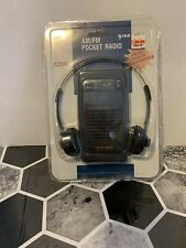 Gran Prix Am/fm Pocket Radio With Headphones New!