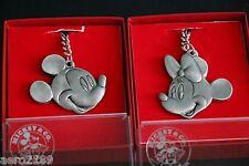 Mickey & Co. Mickey Mouse & Minnie Pewter Key chain Key Ring by Hudson NIB