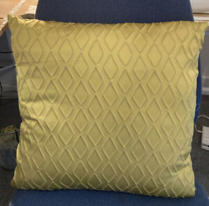 "Stunning Fabric Mustard Ochre Geometric Cushion cover 16.5"" Prestigious Orb"