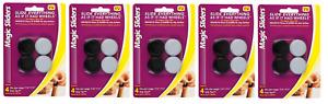 "5 packs of MAGIC SLIDERS Plastic Round Floor Slide Gray 1-1/4"""