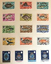 Ascension page of fine used 1968-70 fish definitives and Naval crests