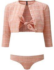 Lisa Marie Fernandez Poppy Seersucker Bikini Tangerine Size III