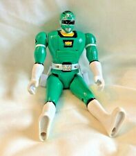 VTG Power Rangers Turbo Triple Action Head & Chest Flip Green Ranger 1997 Bandai