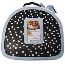 Betsey Johnson Spot Train Case Weekender Travel Bag Luggage Blue Bow Dot  Black