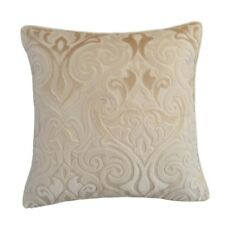 "Upholstery Velvet Damask 18x18"" Cream Decorative/Throw Pillow Case/Cushion Cover"
