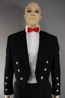 New Scottish Prince Charlie Kilt Jacket IN 100% heavy WOOL With Waistcoat/Vest