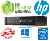 HP 8200 Elite PC - Intel i5 Quad Core CPU Up To 16GB Ram Fast SSD Windows 10 Pro
