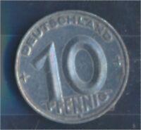 DDR Jägernr: 1507 1953 E vorzüglich Aluminium 1953 10 Pfennig (7849361
