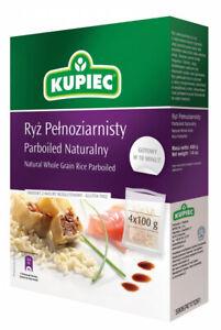 (8,43€/1kg) Kupiec Natürlicher Vollkorn-Parboild Reis 400g  Gemüse – Hülsenfrüch