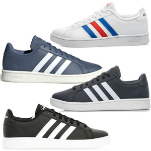 ADIDAS GRAND COURT BASE MEN STYLE NEW CLASSIC TRAINERS  GENUINE MULTICOLOR