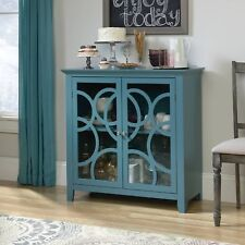 Sauder 420272 Display Cabinet Moody Blue