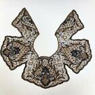 Extraordinary Vintage 1920s / 1930s Black + Gold Sequin Bugle Beaded Collar