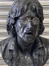 Superb Large Bronzed Resin Bust Of John Lennon By The Sculpture John Somerville