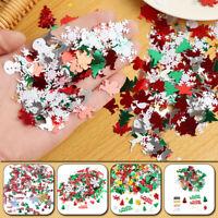 Christmas Confetti Ornament Tinfoil Sequin Sant Claus Snowman Xmas Decor