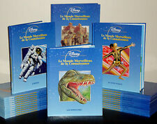 Lot - 24 French Disney Le Monde Merceilleux de la Connaissance HC Full Set 2001