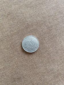 Piece 1/2 franc 1977