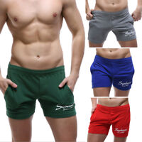 Seobean Big Brand Leisure Sports Men's Jogger Shorts Casual Lounge Cotton Short