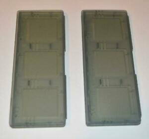 LOT OF 2 OFFICIAL GENUINE NINTENDO DS 3-GAME PLASTIC GAME CASE