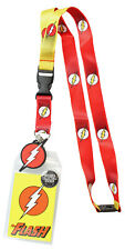 DC Comics The Flash Lanyard ID Holder Badge Flash Charm With Collectible Sticker