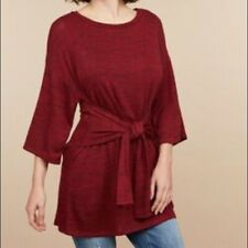Motherhood Maternity Lift Up Tie Front Nursing Top Red Size XL