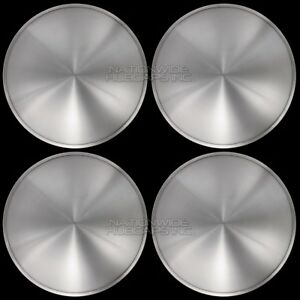 "15"" Set of 4 Solid Moon Wheel Covers Snap On Hub Caps fit R15 Tire & Steel Rim"