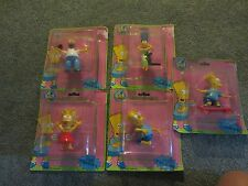 SIMPSONS 5 CARDED PVC FIGURES 1990 BY PRESENTS COMPLETE SET
