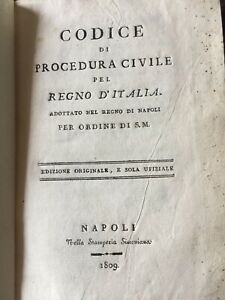 CODICE NAPOLEONE TRADOTTO D'ORDINE DI S.M. IL RE DELLE DUE SICILIE NAPOLI 1808