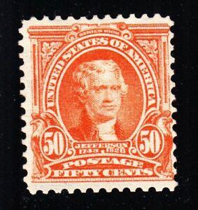 US 310 50c Jefferson Mint F-VF OG LH SCV $375