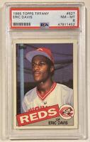 1985 Topps Tiffany ERIC DAVIS Rookie Card #627 PSA 8 NEAR MINT-MINT NM-MT Reds