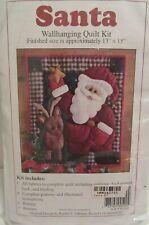 New listing Rachel T. Pellman Santa 13 x 15 Wall Hanging Quilt Kit New In Package