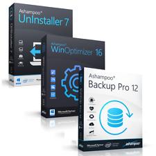 Ashampoo Bundle 3in1 Winoptimizer 16 + Uninstaller 7 + Backup pro 12