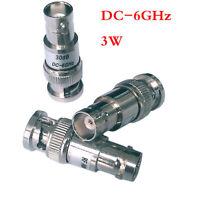 Q9/BNC Coaxial Fixed Attenuator ATT:1-30dB DC-6GHz 3W 50ohm BNC-J 5db 10db 20db