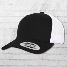 Yupoong by Flexfit Mütze Retro Trucker Snapback Cap schwarz weiß Kappe Haube Hat