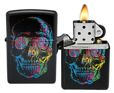 Zippo Lighter 28042 X-Ray Skull Black Matte General NEW