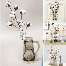 Naturally Dried Cotton Stems Farmhouse Artificial Flower Filler Floral Decor Hot
