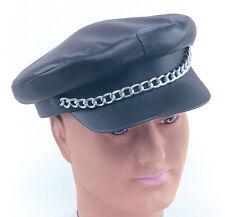 Punk Rocker Mütze mit Kette NEU - Karneval Fasching Hut Mütze Kopfbedeckung