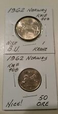 1962 NORWAY COINS