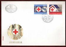 FDC 1975 Yugoslavia Red Cross Health Welfare Care Organisation Humanitarian