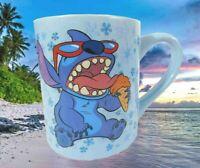 New Disney Lilo & Stitch Eating Ice Cream Cone 14oz Ceramic Mug Cup Light Blue
